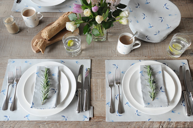 Swallow collection of homewares by Sophie Allport Кантрi бавовна Червоний