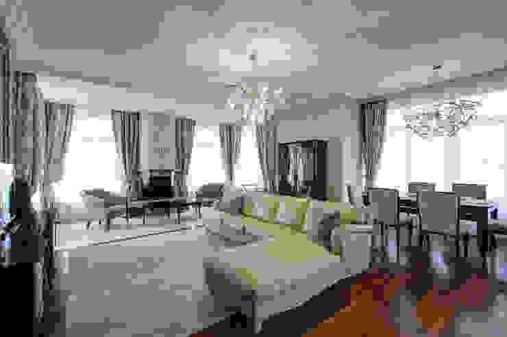 Гостиная. Панорамный вид. Гостиная в классическом стиле от Технологии дизайна Классический