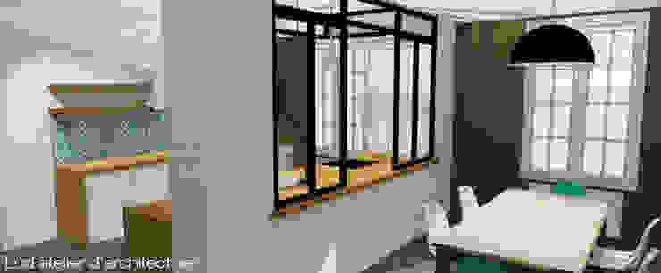 インダストリアルデザインの リビング の Lüd studio d'architecture インダストリアル