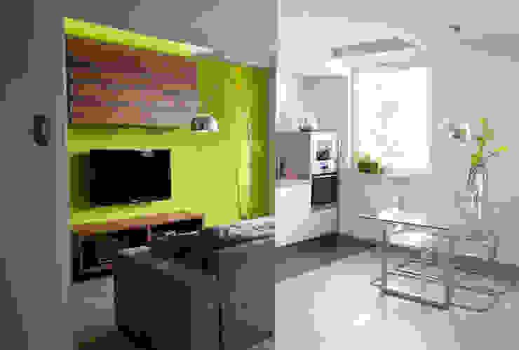 Salones de estilo moderno de Arkadiusz Grzędzicki projektowanie wnętrz Moderno