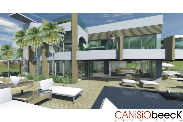A13 Residência Casas modernas por Canisio Beeck Arquiteto Moderno