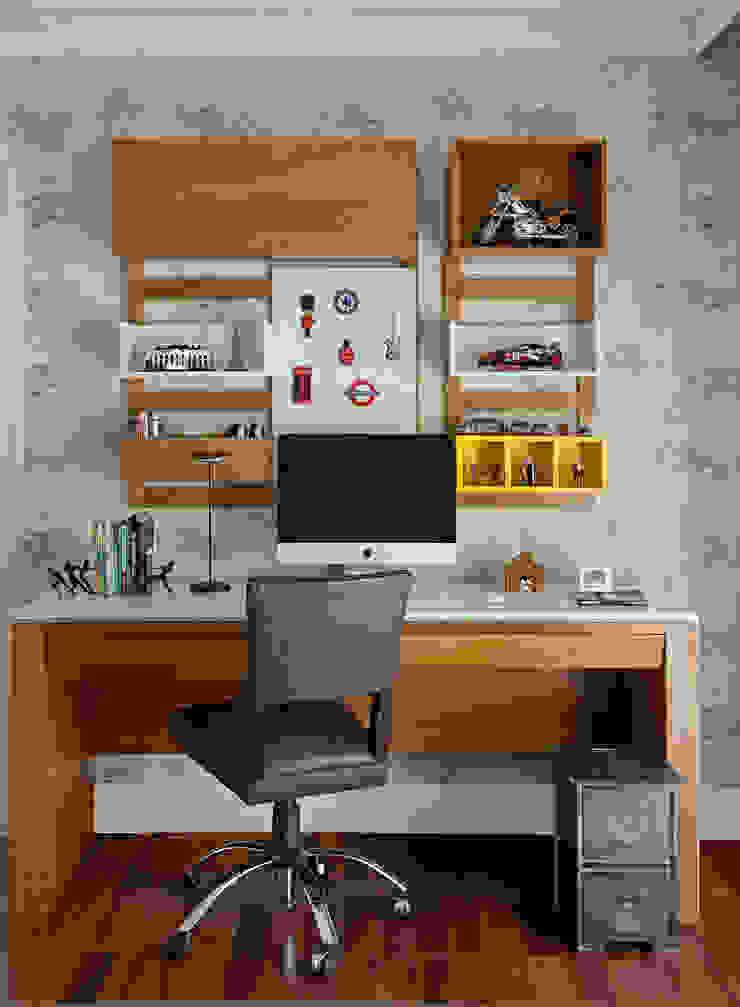 Cantinho de estudos Vilma Massud Design de Interiores Quarto de criançasEscrivaninha e cadeiras