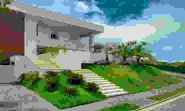 Minimalist style garden by Larissa Maffra Minimalist