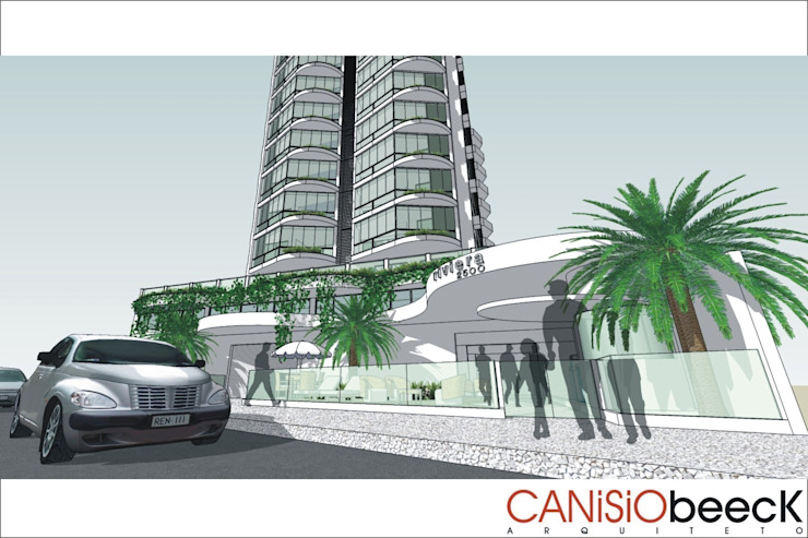 Edifício Riviera Casas modernas por Canisio Beeck Arquiteto Moderno