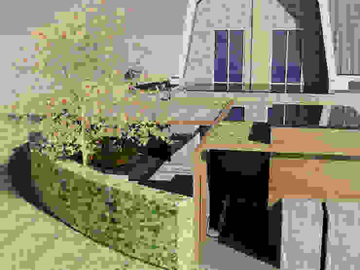 3D ontwerp van een achtertuin Rustieke tuinen van Bladgoud-tuinen Rustiek & Brocante