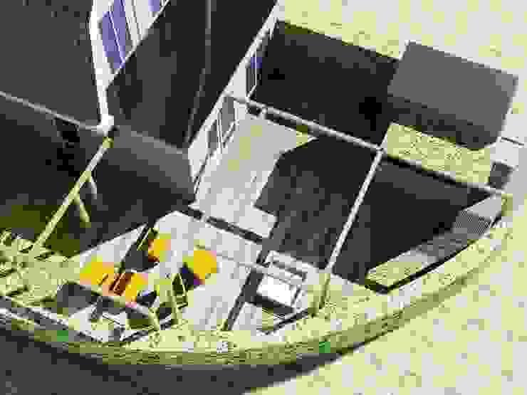 Vlonderterras Rustieke balkons, veranda's en terrassen van Bladgoud-tuinen Rustiek & Brocante