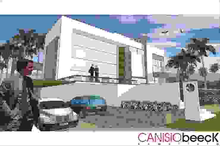 現代房屋設計點子、靈感 & 圖片 根據 Canisio Beeck Arquiteto 現代風