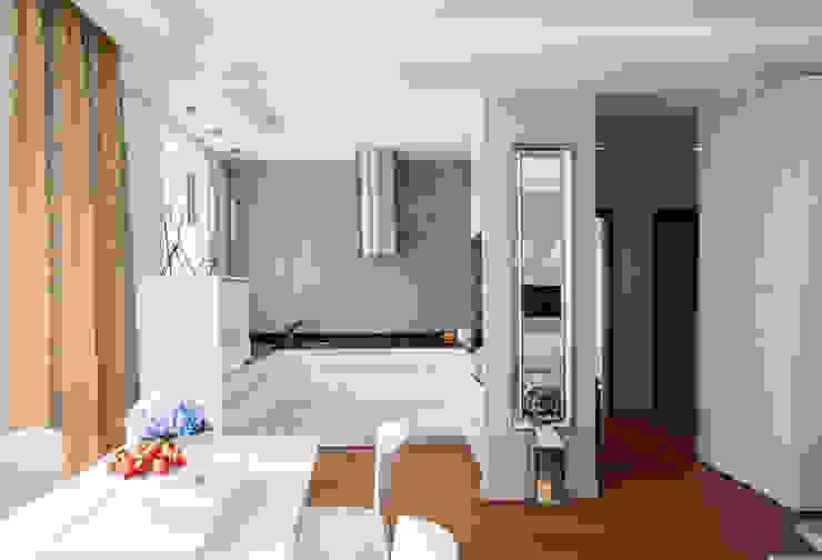 Francuska Kamienica Nowoczesna kuchnia od Arkadiusz Grzędzicki projektowanie wnętrz Nowoczesny