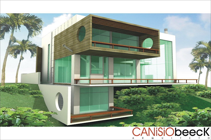 A24 Residência Casas modernas por Canisio Beeck Arquiteto Moderno