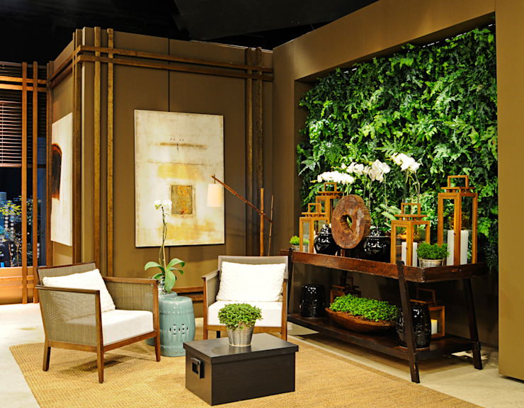 Quadro Vivo Urban Garden Roof & Vertical Ruang Penyimpanan Wine/Anggur Gaya Rustic