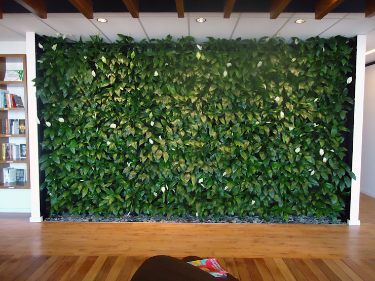 Quadro Vivo Urban Garden Roof & Vertical Ruang Media Gaya Rustic