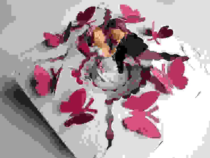 Papiertorte Mini pinki-weiß: modern  von Zauberhaft verschenken,Modern