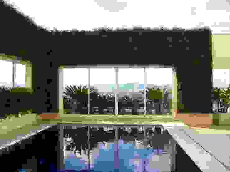 Quadro Vivo Urban Garden Roof & Vertical Balkon, Beranda & Teras Tropis