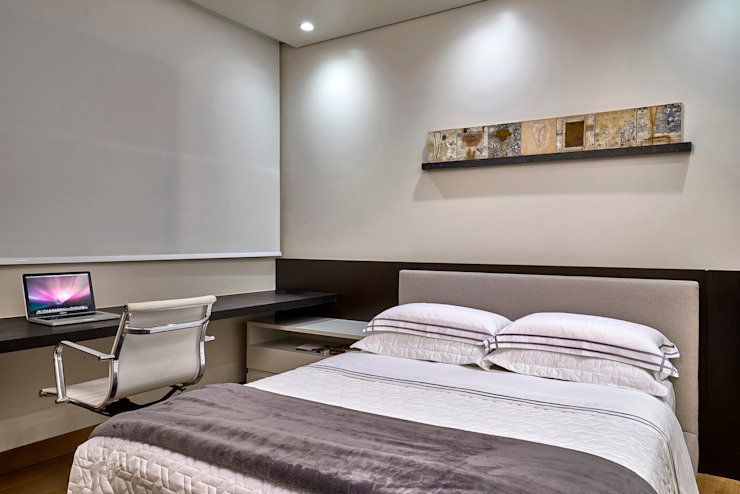 Quarto de hóspedes Quartos modernos por Fernanda Sperb Arquitetura e interiores Moderno