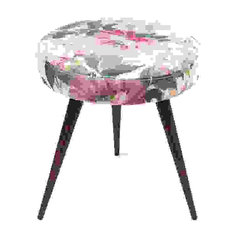 stołek | zielony kwiat: styl , w kategorii Salon zaprojektowany przez Magiel,