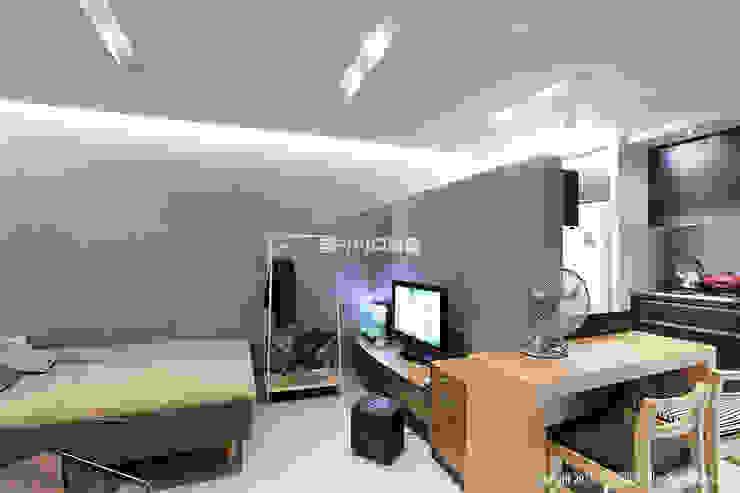 영등포구 당산동 19평형 원룸형 아파트: MID 먹줄의  침실,모던