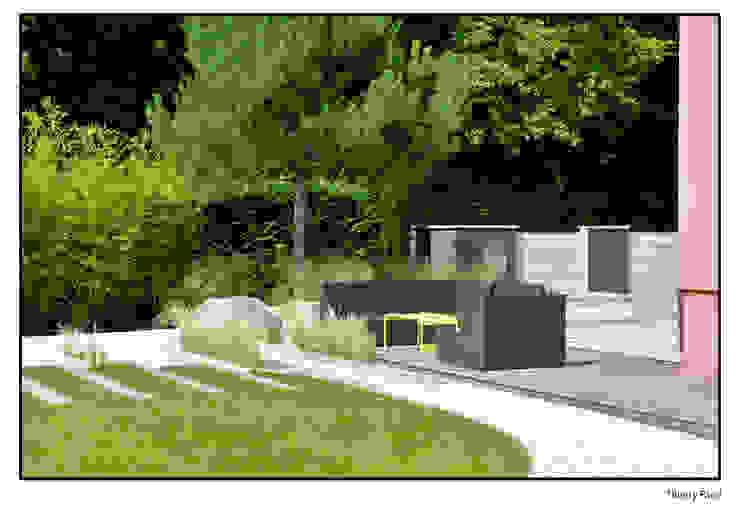 Terrasse tropicale par Gilbert Henchoz Architectes Paysagistes Associés SA Moderne