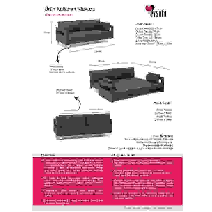 K105 Mobilya Pazarlama Danışmanlık San.İç ve Dış Tic.LTD.ŞTİ. – Marla Yataklı Kenepe (Marla Sofa Bed): modern tarz , Modern