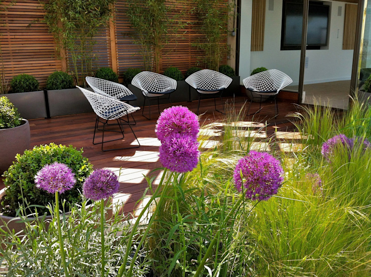 Decked roof terrace di Energy Space Ltd Minimalista