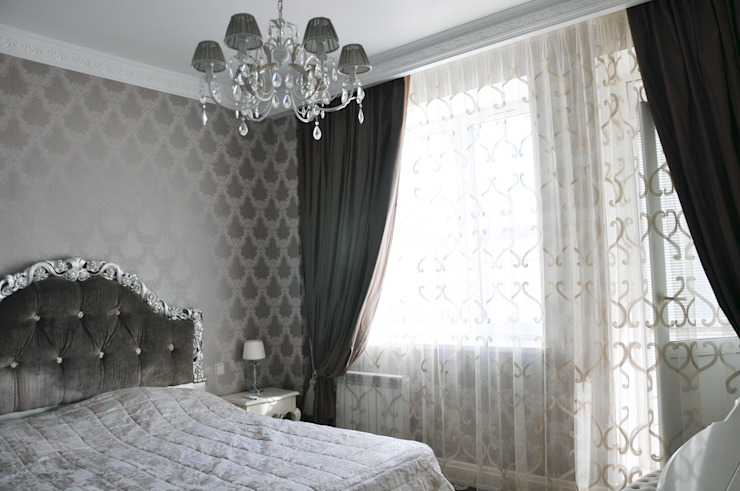 КРЕМ-БРЮЛЕ <q>ПО-КЛАССИЧЕСКИ</q> Спальня в классическом стиле от студия дизайна архитектурной среды 'S-KVADRAT' Классический
