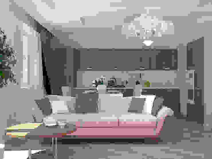 Гостинная Гостиные в эклектичном стиле от Kalista Эклектичный