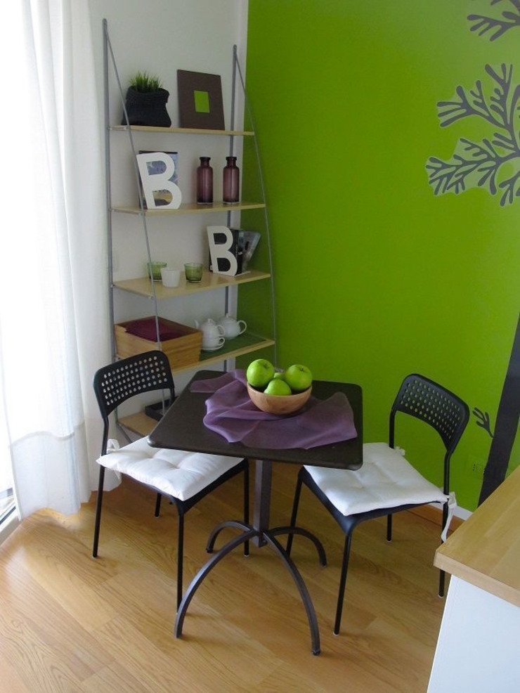 Zona pranzo AirBnb (DOPO) Clara Avagnina Home Staging