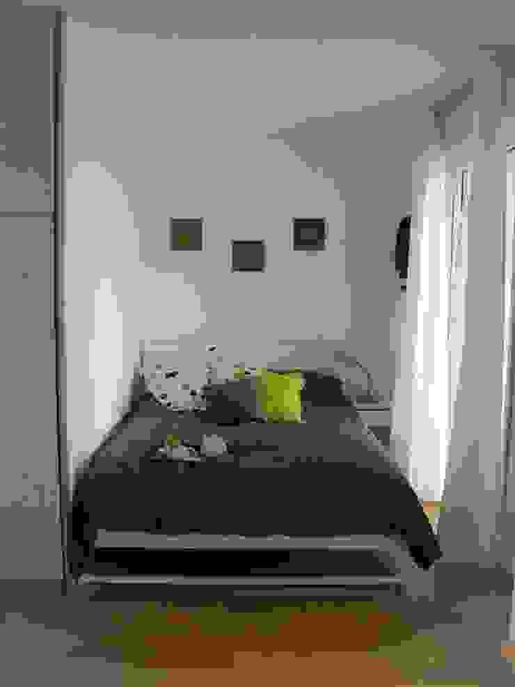 Zona notte monolocale (DOPO) Clara Avagnina Home Staging