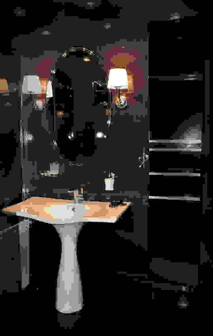 КВАРТИРА В ФИАЛКОВЫХ ТОНАХ Ванная комната в стиле модерн от студия дизайна архитектурной среды 'S-KVADRAT' Модерн