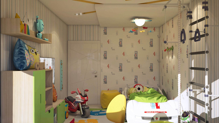 Детская Детская комнатa в стиле минимализм от tatarintsevadesign Минимализм