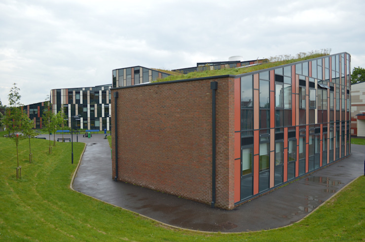 New-build secondary school in Newbury features Sedum Roof ArchitectureLIVE Schools