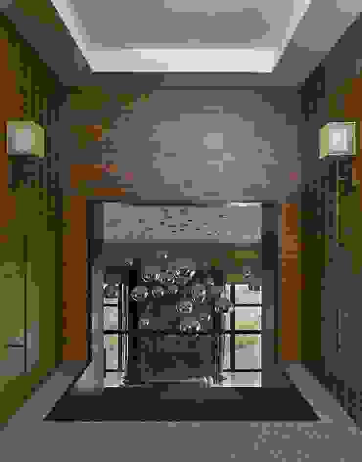 Дом в Подмосковье Коридор, прихожая и лестница в эклектичном стиле от Chdecoration Эклектичный