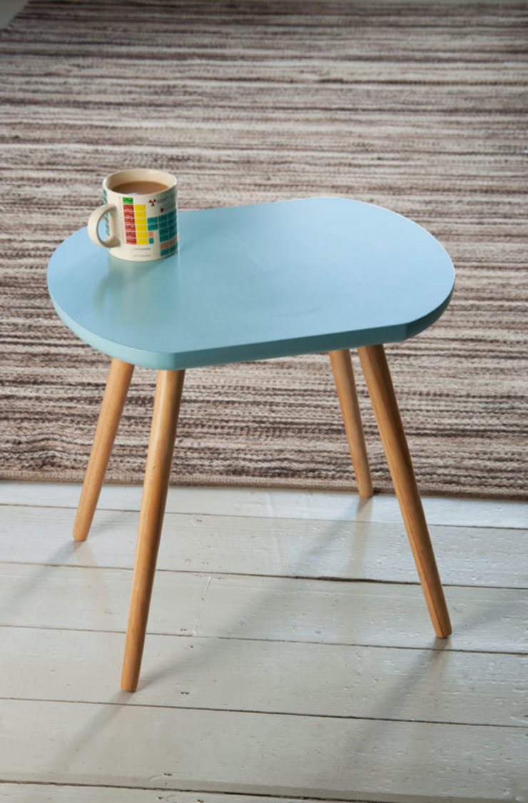 Fifties Blue Oval Wooden Coffee Table par Dotcomgiftshop Industriel