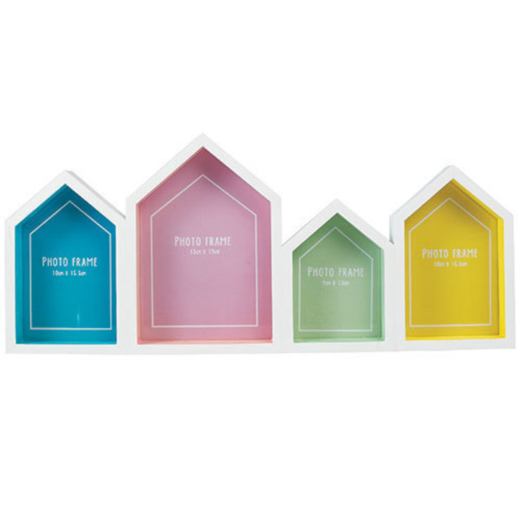 Beach Hut Multi Picture Photo Frame par Dotcomgiftshop Éclectique