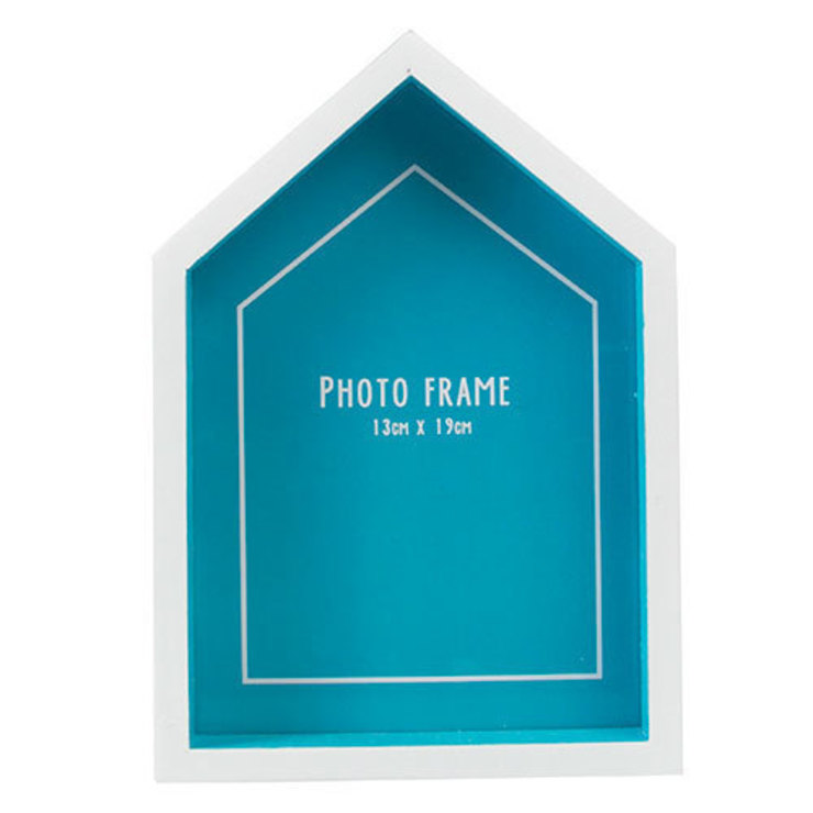 Beach Hut Photo Frame Blue par Dotcomgiftshop Éclectique