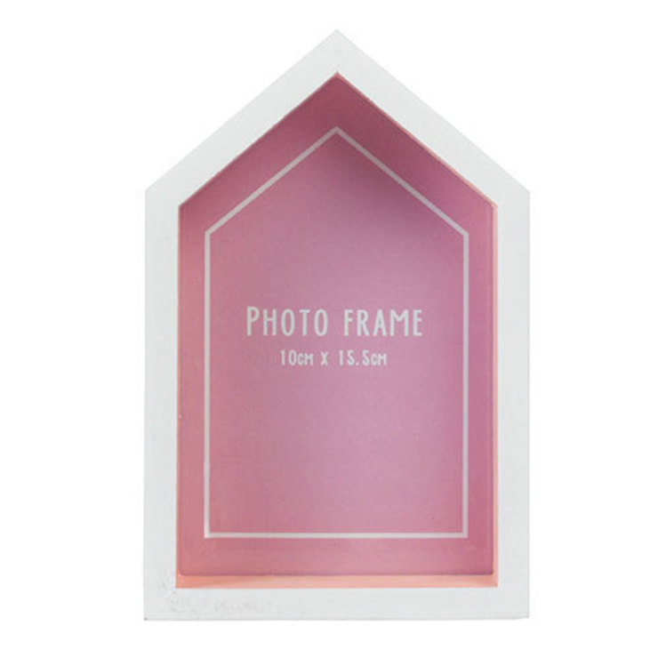 Beach Hut Photo Frame Pink par Dotcomgiftshop Éclectique