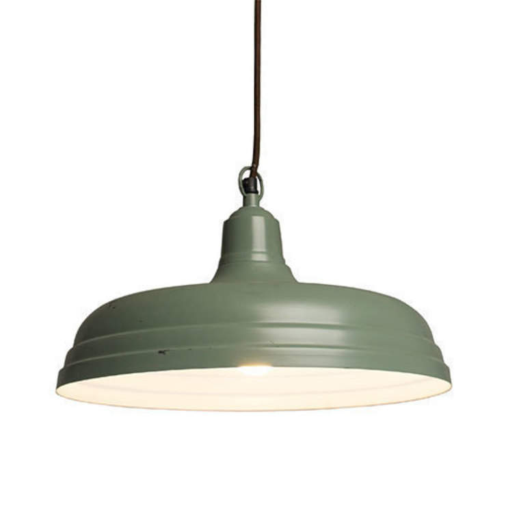 Large Utility Light Royal Green par Dotcomgiftshop Industriel