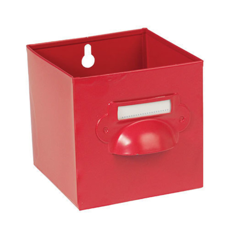 Vintage Red Metal Storage Drawer van Dotcomgiftshop Industrieel