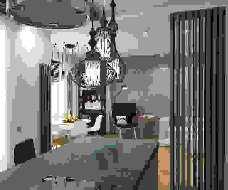Кухня-Гостиная Кухня в стиле лофт от tatarintsevadesign Лофт