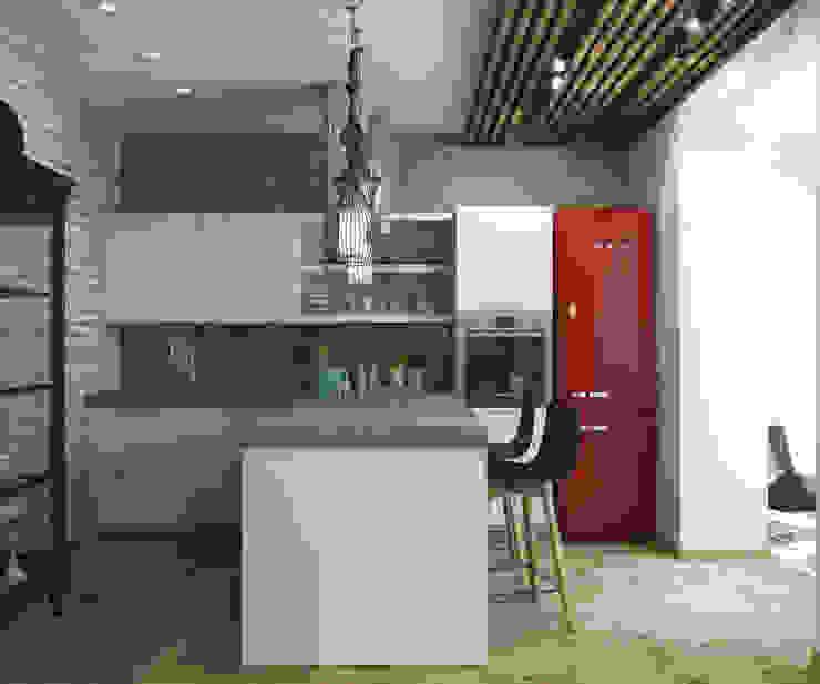 Кухня Кухня в стиле лофт от tatarintsevadesign Лофт