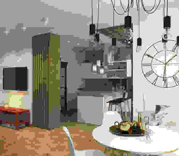 Гостиная Гостиная в стиле лофт от tatarintsevadesign Лофт