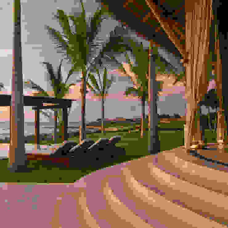 Casa Taheima. Jardines tropicales de BR ARQUITECTOS Tropical