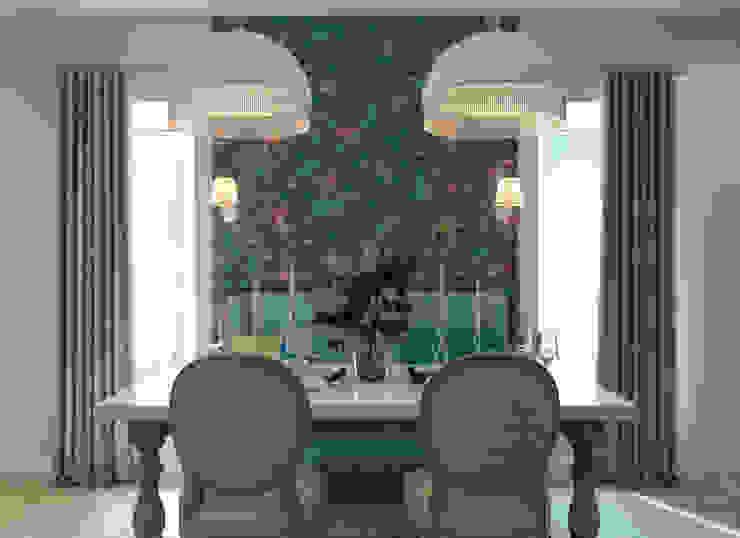 Столовая зона Столовая комната в классическом стиле от tatarintsevadesign Классический