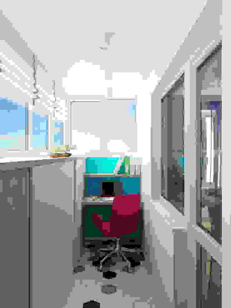 Балкон Балкон и терраса в стиле минимализм от tatarintsevadesign Минимализм
