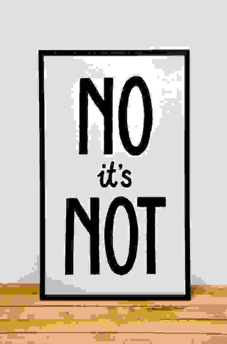 No it's Not van Lennart Wolfert - Graphic Artist Minimalistisch