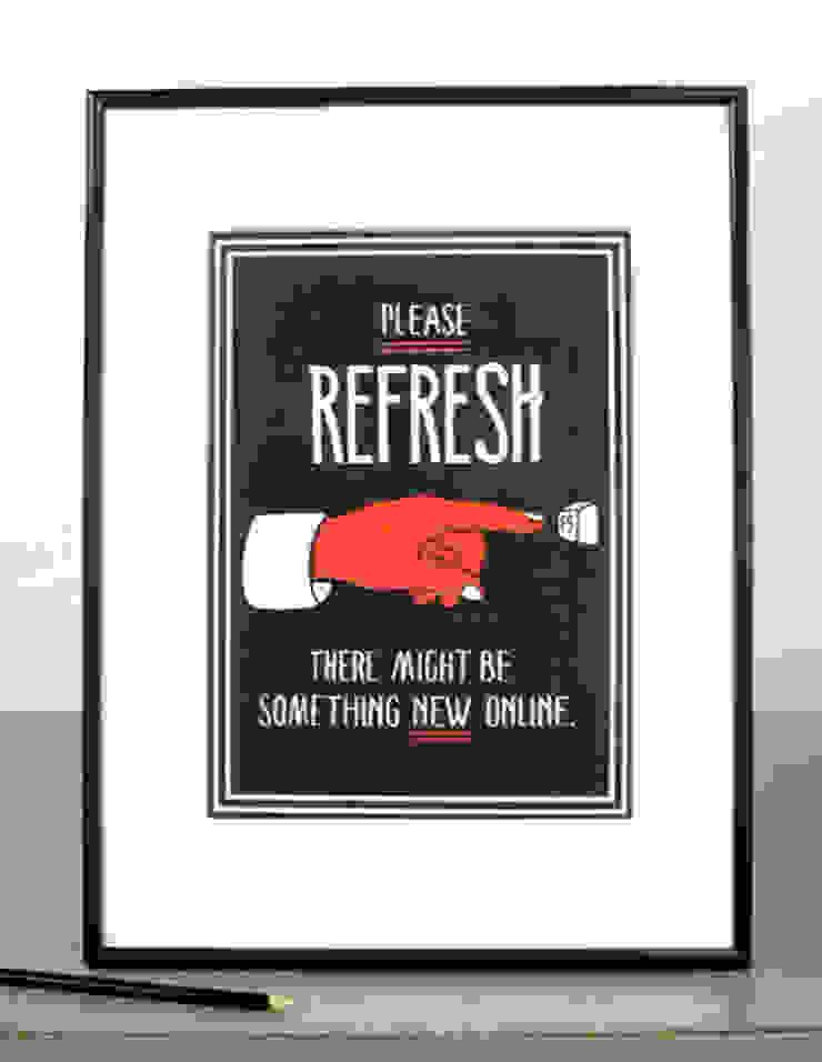 Please Refresh van Lennart Wolfert - Graphic Artist Minimalistisch