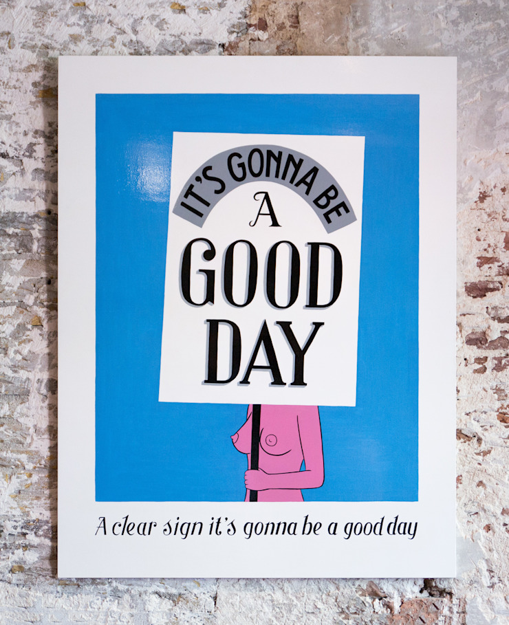 A clear Sign it's gonnan be a Good Day van Lennart Wolfert - Graphic Artist Minimalistisch