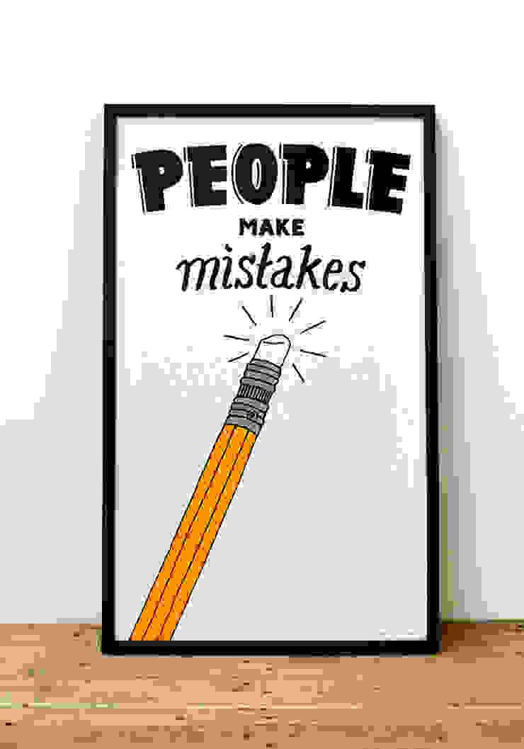 People Make Mistakes van Lennart Wolfert - Graphic Artist Minimalistisch
