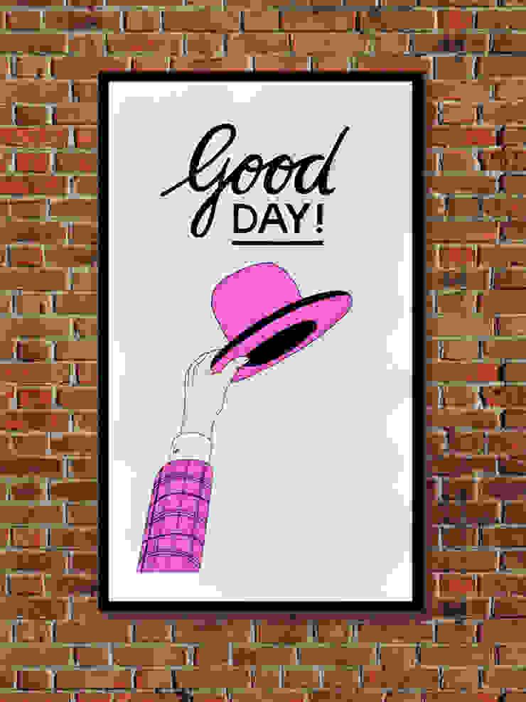 Good Day! van Lennart Wolfert - Graphic Artist Minimalistisch