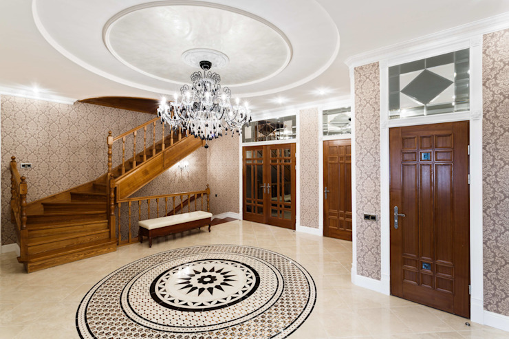 AGRAFFE design Classic style corridor, hallway and stairs
