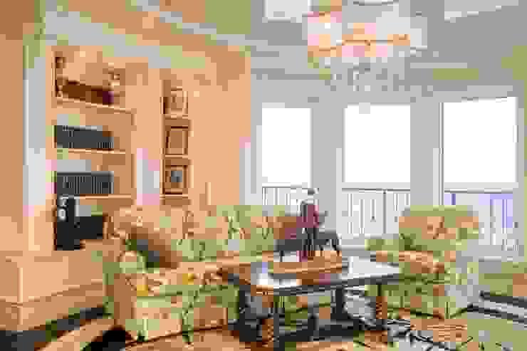 Квартира в г. Зеленоградске Гостиная в классическом стиле от AGRAFFE design Классический